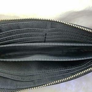 Coach Bags - Coach Logo Cloth Zippered Wallet/Wristlet
